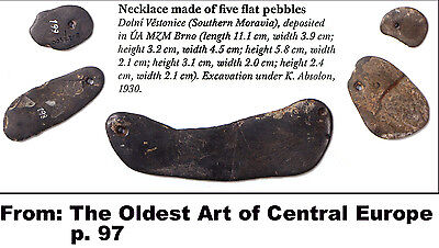 Necklase made of five flat pebbles - cast of resin 5 • CAD $44.04