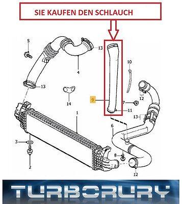 Ladeluftschlauch Turboschlauch Für  FOCUS MK II FL 2.0 TDCI von 2008 bis 2011