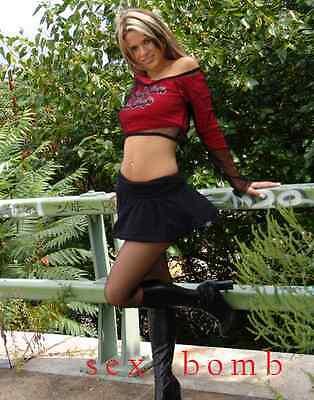 SEXY stivali nero zip cerniera TACCO 7,5 CM DAL numero 35 AL 46 Fashion GLAMOUR 12