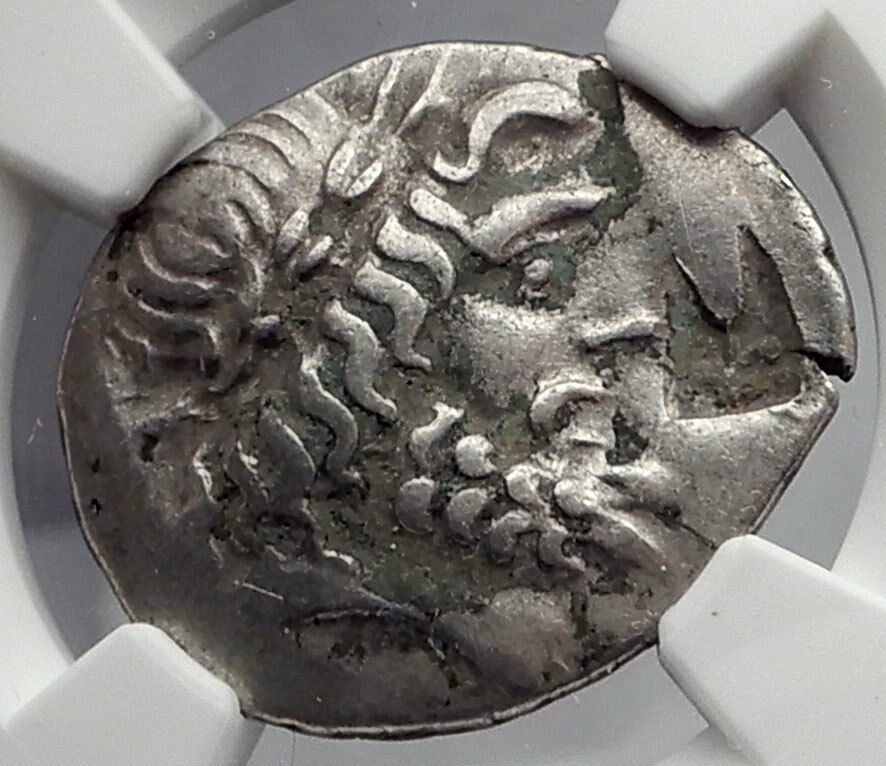 THESSALIAN LEAGUE Larissa Thessaly Silver Greek Coin ZEUS ATHENA NGC VF i59893 2