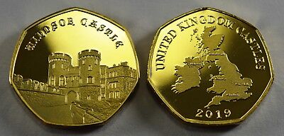 Pair of CONWY CASTLE Commemoratives. 24ct Gold. Silver. Albums/Filler NEW 2019 5