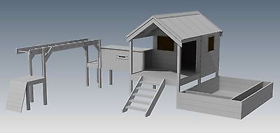 CUBBY PLAY HOUSE / SAND PIT / TUNNEL / PLAY GYM / COMBO - Building Plans V1 2