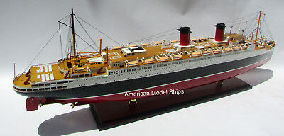 """SS Ile De France French 1926 Ocean Liner Model 38/"""" Museum Quality Scale 1:250"""