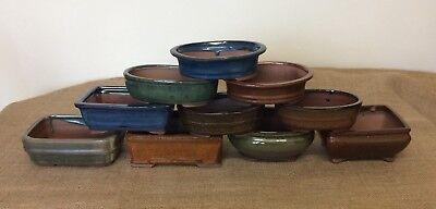 16cm Mixed Bonsai Pots X5 2