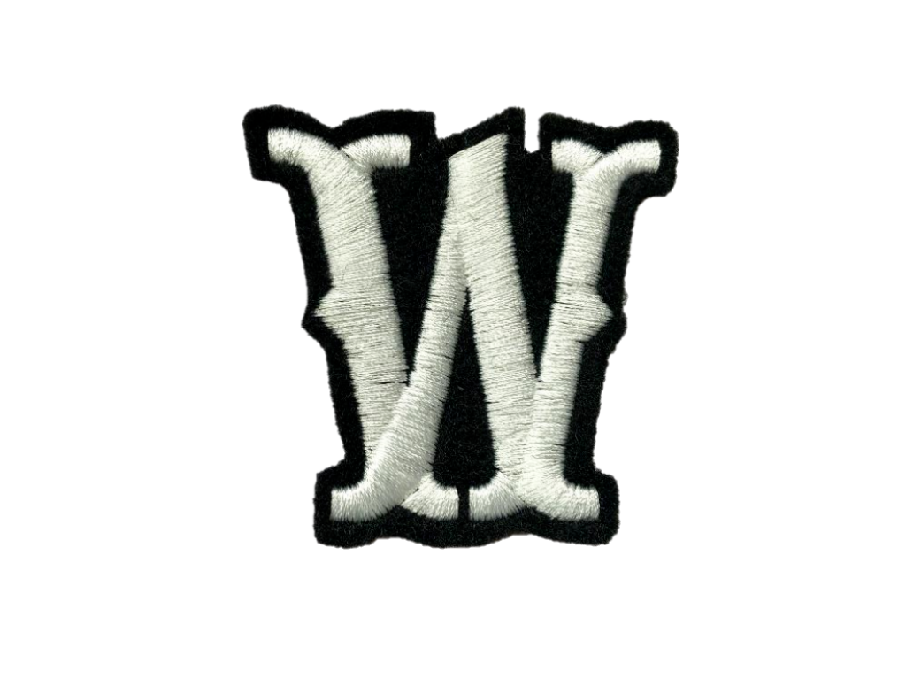 "Custom Patch Embroidered 2/"" Pointedly SOA style Font FELT Iron on LETTER Patches"