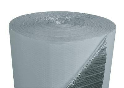4ft x 25ft White Double Bubble Reflective Foil Insulation Thermal Barrier R8 7
