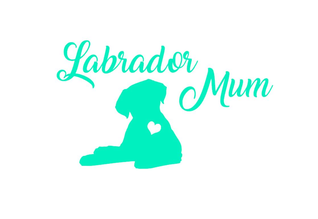 A136  I Love My Labrador Lab dog paw  vinyl decal for car truck
