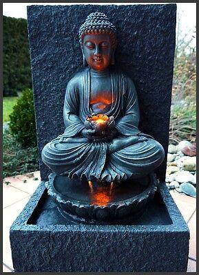 Buddha brunnen zimmerbrunnen gartenbrunnen lotusbl te modern 63 cm ho led licht eur 159 90 - Zimmerbrunnen modern ...