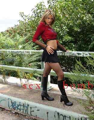 SEXY stivali nero zip cerniera TACCO 7,5 CM DAL numero 35 AL 46 Fashion GLAMOUR 6