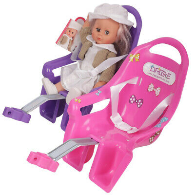 Bike Doll Carrier Seat Kids Girls Seats Post Dolls Holder Stickers Bicycle Kit 2