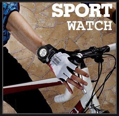 Fashion Men's LED Date Waterproof Digital Quartz Military Army Sport Wrist Watch 10