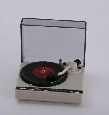 1:12 Scale Dollhouse Record Player Turntable Working Miniature Music Room Songs 11