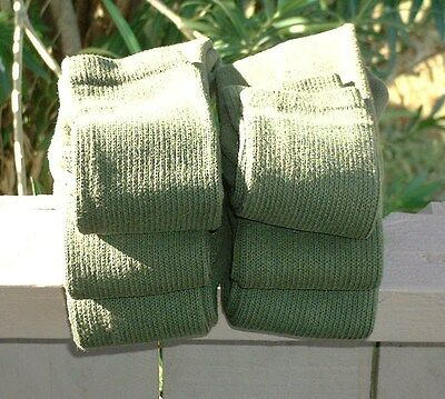 Military Army Over The Calf Green Boot Socks 6 Pairs Made In USA Various Sizes 2
