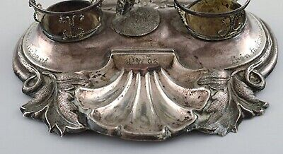 Swedish silversmith. Writing kit/inkwell in silver with elf. 1890's. 5