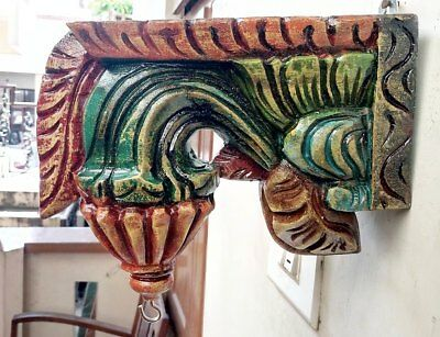 Wall Hanging Corbel Bracket Pair used for hanging lamp Vintage Wooden Home Decor 4