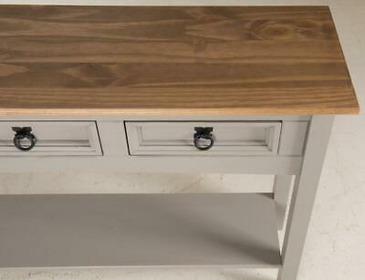 Corona Console Table 3 Drawer Grey Wax by Mercers Furniture® 7