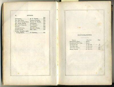 Antique Book 1851 KEEPSAKE of FRIENDSHIP 4 Oliver Pelton Engravings CHRISTMAS hb 6