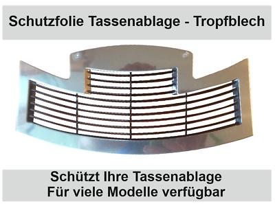 3x Schutzfolie für Jura S8 S80 E80  2018 E8 Tassenablage Tropfblech