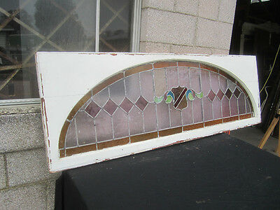 ~ Big Antique American Stained Glass Window  ~  Architectural Salvage ~ 8