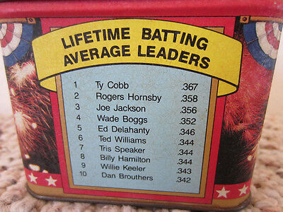 "Vintage Baseball Tin Box / ""mlb  Baseball Legends"""