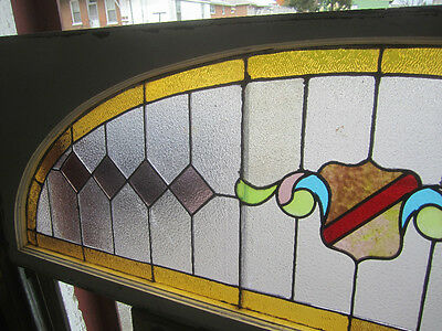 ~ Big Antique American Stained Glass Window  ~  Architectural Salvage ~ 3