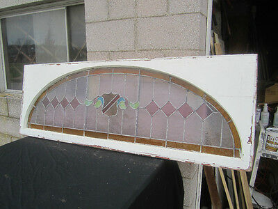 ~ Big Antique American Stained Glass Window  ~  Architectural Salvage ~