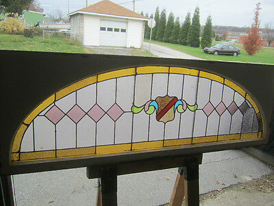 ~ Big Antique American Stained Glass Window  ~  Architectural Salvage ~ 6