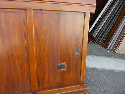 """circa 1930's Maple paneling section 80"""" x 86"""" high from old cutlery shop 3"""