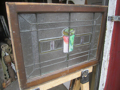 ~ Antique American Stained Glass Window ~  Architectural Salvage ~ 6