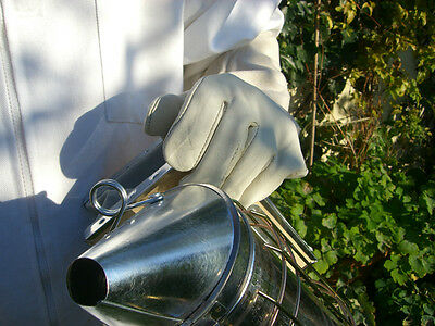 2 pairs of Bee keepers gloves - White XL 7