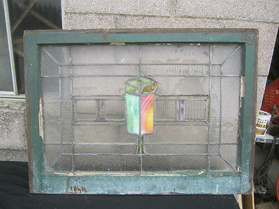 ~ Antique American Stained Glass Window ~  Architectural Salvage ~ 7