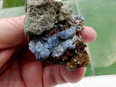 """Minerales """" Fabulosos Cristales De Quarzo Azul De Cantera Juanona -  9G19 """" 4"""
