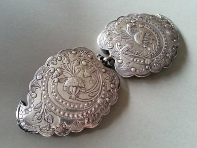 150 Years Old ANTIQUE OTTOMAN SILVER belt buckle WITH SULTAN ABDUL AZIZ TUGRA 3