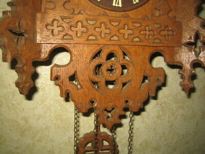 Antique  Black Forest Gothic Style  Cuckoo Clock 4