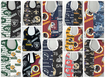 85f3182ac HANDMADE HOUSE DIVIDED Baby Bibs made with NFL fabric - $11.00 ...