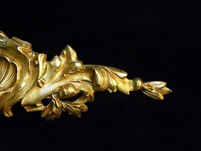 Superb Antique French Large Bronze Pediment Scroll 19 Th.c Napoleon III 8 • CAD $308.70