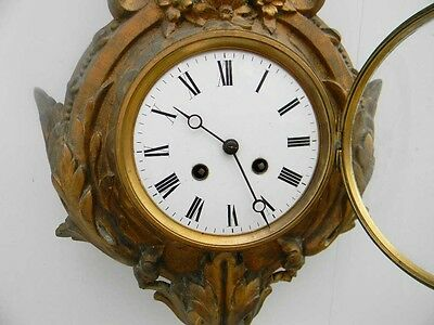 Cartel wall clock French early 19th century 5