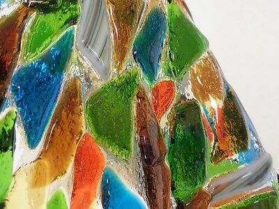 Vintage Industrial Chandelier Fused Glass Shades Horse Evener Wood Cast Iron 10