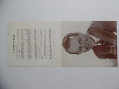 1944 VAUGHN MONROE Signed Inscribed Photo Bandleader Singer Radio Star Vintage 3