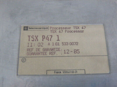 Tsxp471 - Telemecanique - Tsxp47 1/Processor Module CPU Used 3