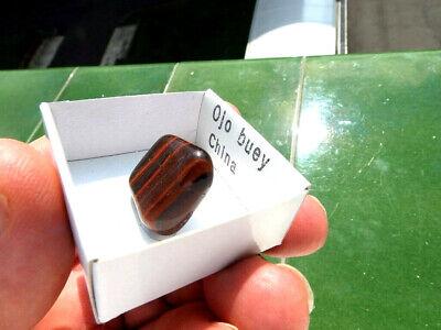 "Minerales "" Bonito Mineral Rodado De Ojo De Buey De China  -  9B19 "" 4"