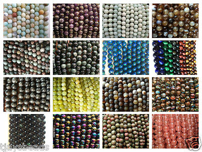 8mm Semi Precious Gemstone Rounds Beads Jewellery Making (approx 46-50 beads) 2