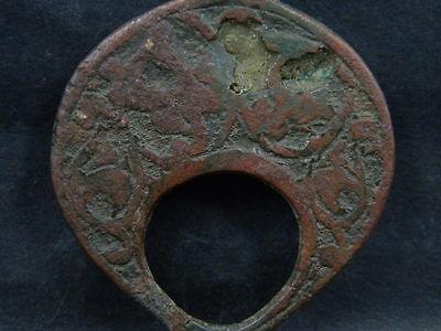 Ancient Bronze Pendant Islamic 1200 AD #BR7485 5