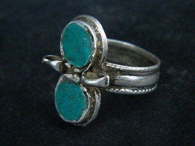 Antique Silver Ring With Stones 1900 AD  #STC176 3 • CAD $31.76