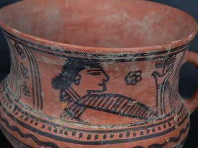 Ancient Large Size Teracotta Painted Jug Roman 100BC #PT675 6