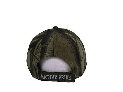 f1468bd77c5 ... Native American Feather and Beads Native Pride Indian Shadow Camo Ball  Cap Hat 2