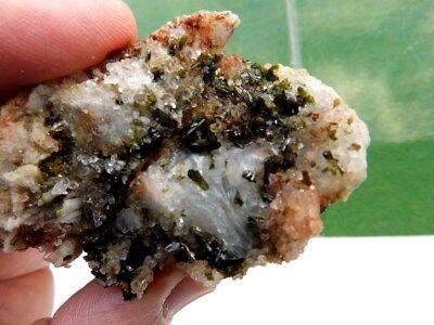 """Minerales"""" Extraordinarios Cristales Arracimados De Epidota De Marruecos-12B17 """" 2"""