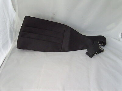 "<Deal> Quality Mens 100% Silk BLACK Cummerbund> up to 48"" Waist>P&P2UK>1st Class 5"