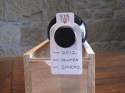 Wine Bottle Storage & Organising Tags - Vin Tags - 20 packs of 50 wine tags.