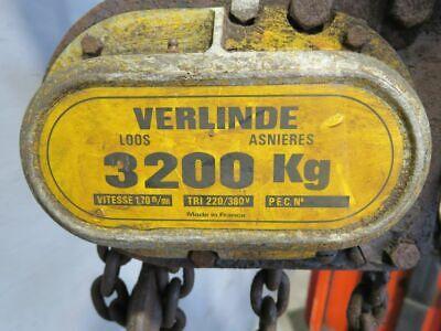 Verlinde Elektro Kettenzug Flaschenzug Kran Hallenkran 3200Kg #29669 8